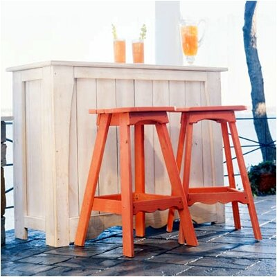 Uwharrie Chair Companion Outdoor Backless Bar Stool