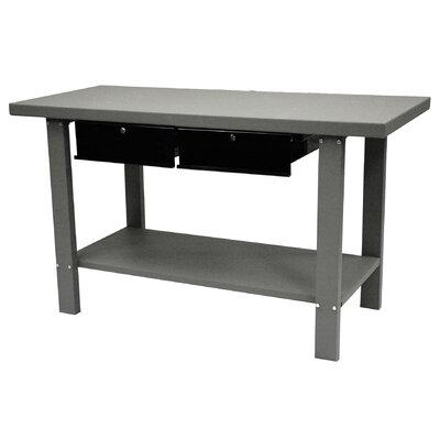 Homak 59 Indust Gray Workbench W/ 2 Drwrs