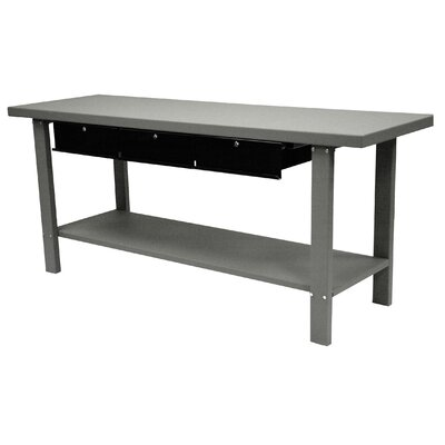 Homak 79 Indust Gray Workbench W/ 3 Drwrs