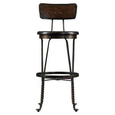 Stanley Furniture European Farmhouse Artisan's Apprentice Barstool in Distressed Terrain