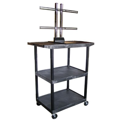 "Luxor Mobile Plasma / LCD Stand (48"" High)"
