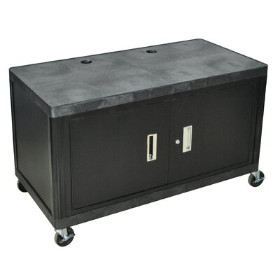 Luxor Two Shelf Extra Wide Mobile Workcenter with Cabinet