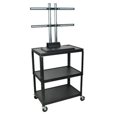 Luxor Extra Wide Flat Panel C Cart
