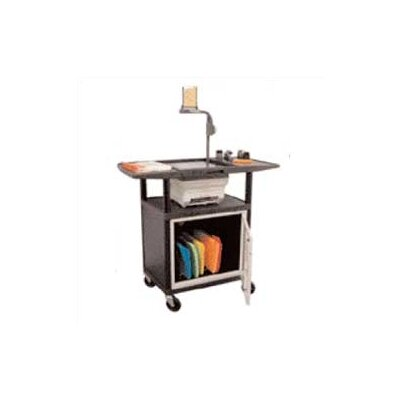 Luxor Stand-Up Overhead Projector Table with Cabinet