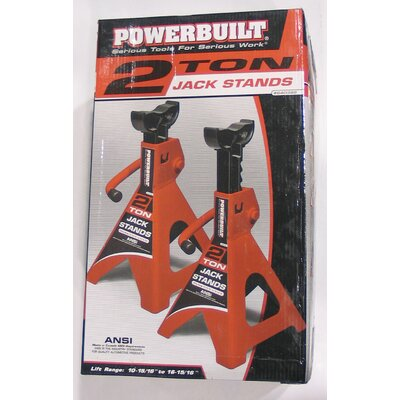 Powerbuilt 2 Ton Heavy Duty Jack Stands 640399
