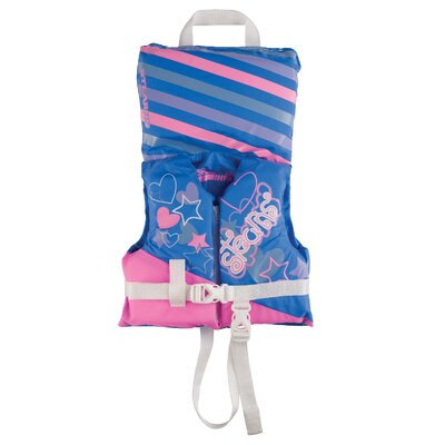PFD 5971 Infant Antimicrobial Girl Life Jacket in Blue and Pink
