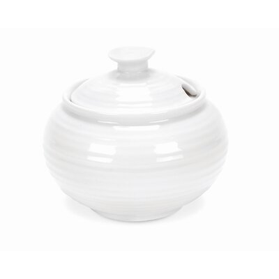 Portmeirion Sophie Conran White 11 oz. Sugar Bowl with Lid