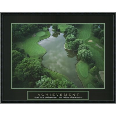 "Amanti Art Achievement - Golf Course Framed Print Art - 22.64"" x 28.77"""