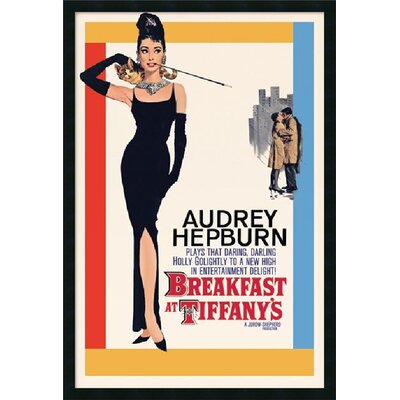 "Amanti Art Audrey Hepburn- Breakfast at Tiffany's Framed Print Art - 37.66"" x 25.66"""