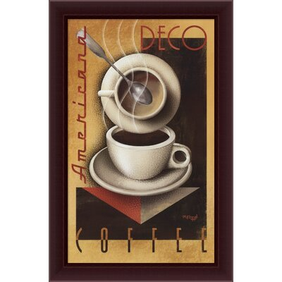 "Amanti Art Americana Deco Coffee by Michael Kungl, Framed Canvas Art - 40.45"" x 26.45"""