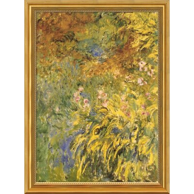 "Amanti Art Irises by Claude Monet, Framed Print Art - 32.75"" x 24.5"""