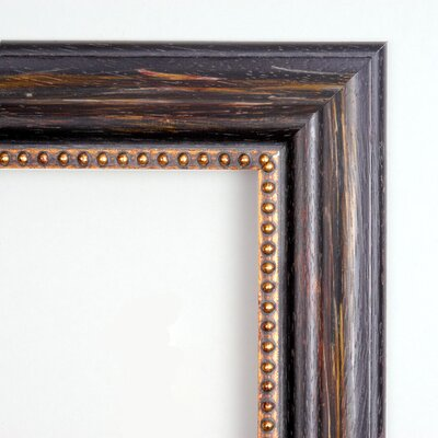 Amanti Art Tuscan Medium Mirror in Distressed Black
