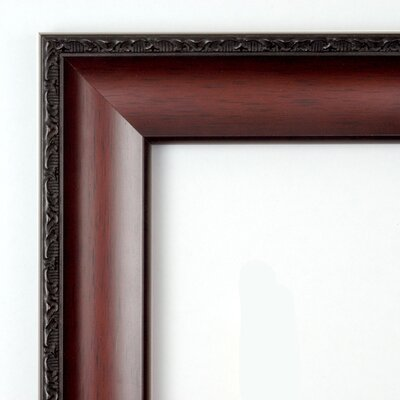 Amanti Art Country Large Mirror in Dark Walnut
