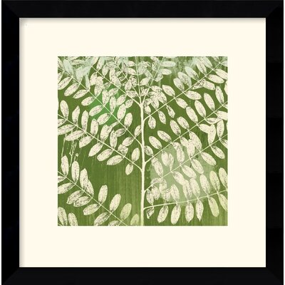 Forest Leaves Framed Art Print by Erin Clark