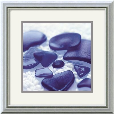Sea Glass - Cobalt by Celia Pearson Framed Fine Art Print - 15.99