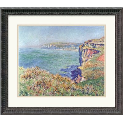"Amanti Art The Cliff at Varengeville, 1882 by Claude Monet Framed Fine Art Print - 18.68"" x 21.18"""