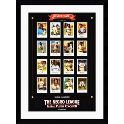 "Amanti Art Negro League Baseball Legends by E.B. Lewis Framed Fine Art Print - 42.62"" x 31.62"""