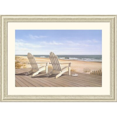 Point East by Daniel Pollera - Rustic Whitewash Frame Framed Fine Art Print - 30.13