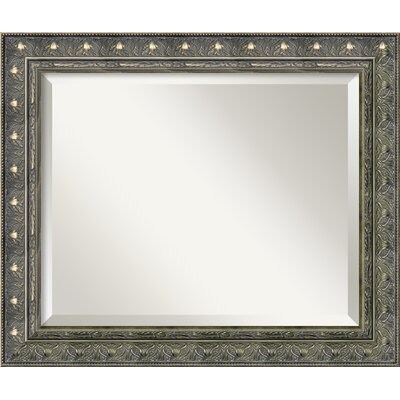 Barcelona Medium Mirror in Champagne and Pewter