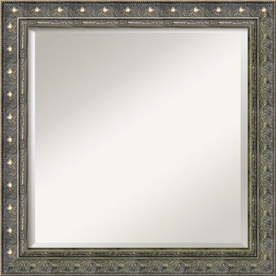 Barcelona Square Mirror in Champagne and Pewter