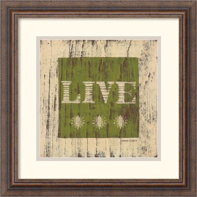 Amanti Art Live Framed Print by Warren Kimble