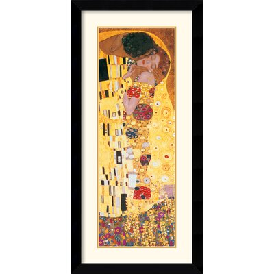 Amanti Art The Kiss (Der Kuss) Detail Framed Print by Gustav Klimt
