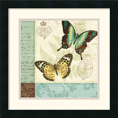 Butterfly Patchwork I Framed Print by Pela Studio