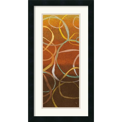 Square Dancing Circles II Framed Print by Sarah Adams