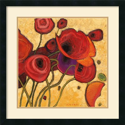 Amanti Art Poppies Wildly II Framed Print by Shirley Novak