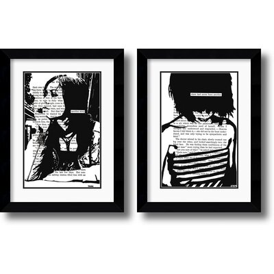 Amanti Art Her Story Framed Print set by John Clark (Set of 2)