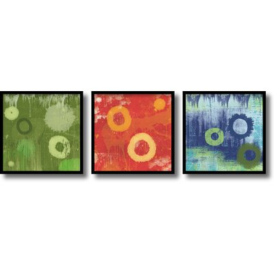 Verdure, Cinder, Ocean Framed Print by Erin Clark (Set of 3)