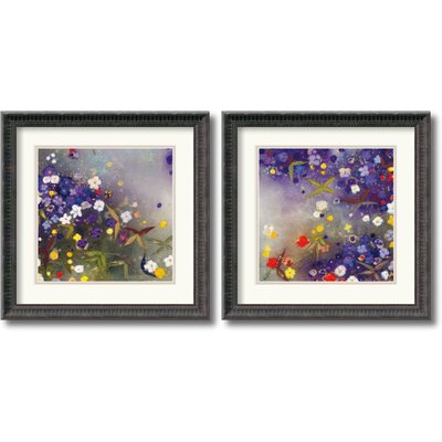 Amanti Art Gardens in The Mist Framed Print by Aleah Koury (Set of 2)