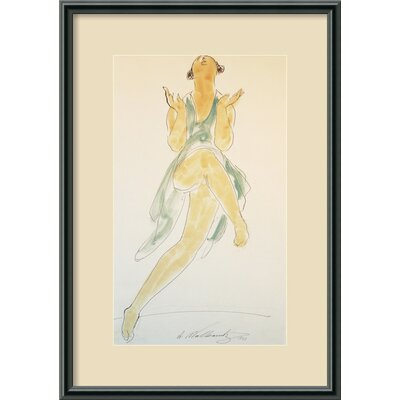 Isadora Duncan, Dancing, 1920 Framed Print Wall Art