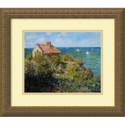 Fishermans Cottage on the Cliffs at Varengeville by Claude Monet, Framed Print Art - 14.06