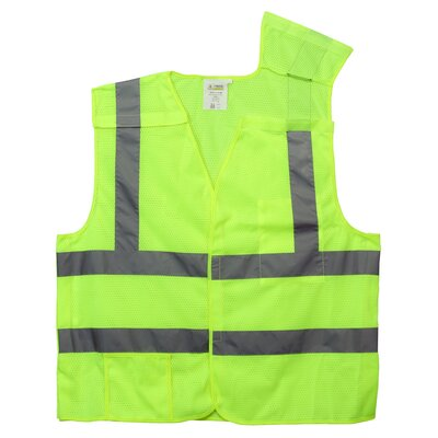 Cordova Hi Vis Reflective Safety Vest in Lime Green (Class 2) - Large