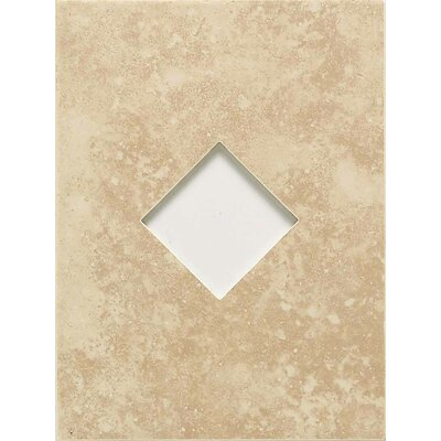 "American Olean Ash Creek 12"" x 9"" Glazed Wall Tile Accent with Diamond Cutout in Almond"