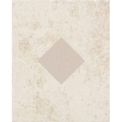 "American Olean Carriage House 10"" x 8"" Glazed Wall Tile Accent with Diamond Cutout in Canvas"