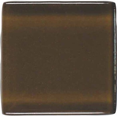 "American Olean Legacy Glass 2"" x 2"" Solid Mosaic Tile in Sable"