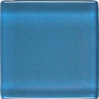 "American Olean Legacy Glass 4-1/4"" x 4-1/4"" Glazed Field Tile in Wedgewood"