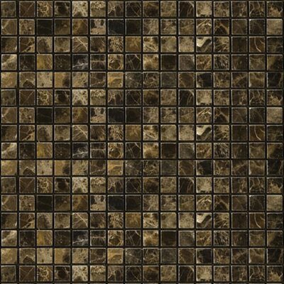 "Emser Tile Natural Stone 12"" x 12"" Polished Marble Mosaic in Emperador Dark"