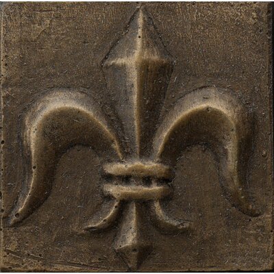 "Emser Tile Renaissance 2"" x 2"" Corsica Insert Tile in Antique Bronze"