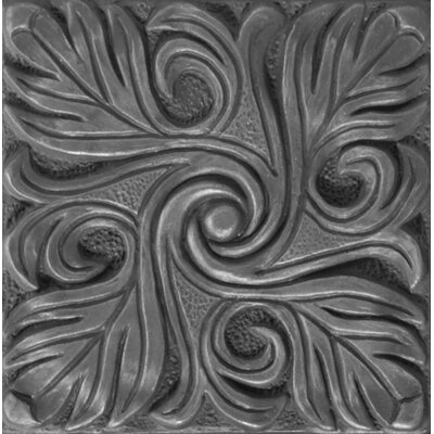 "Emser Tile Renaissance 4"" x 4"" Bari Accent Tile in Antique Nickel"