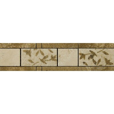 "Emser Tile 13"" x 4"" Segovia Travertine Listello"
