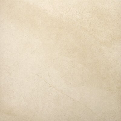 "Emser Tile St Moritz 18"" x 18"" Glazed Floor Porcelain Tile in Ivory"