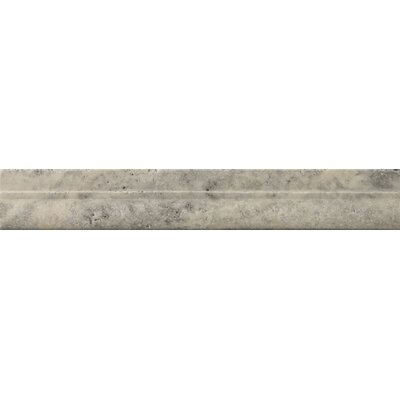 "Emser Tile Natural Stone 12"" x 2"" Tumbled Travertine Mini OG in Silver"