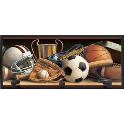 Illumalite Designs Classic Sports Wall Plaque with Wooden Pegs