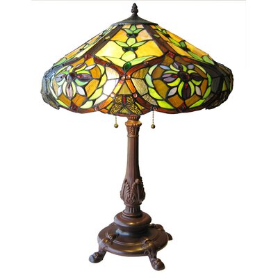 Chloe Lighting Tiffany Style Victorian Table Lamp with 114 Cabochons