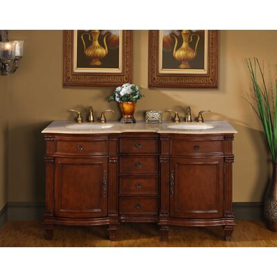 Silkroad Exclusive 60&quot; Blair Double Bathroom Vanity