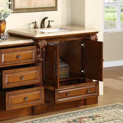 "Silkroad Exclusive Montgomery 58"" Single Bathroom Vanity Set"