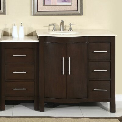 "Silkroad Exclusive Kimberly 54"" Single Sink Bathroom Vanity Set"